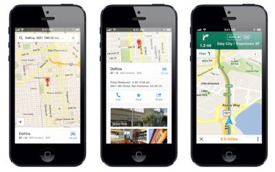 Google Maps sur iPhone